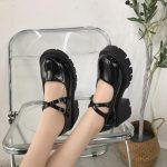 Lolita Vintage Shoes with High Heel Platform 9
