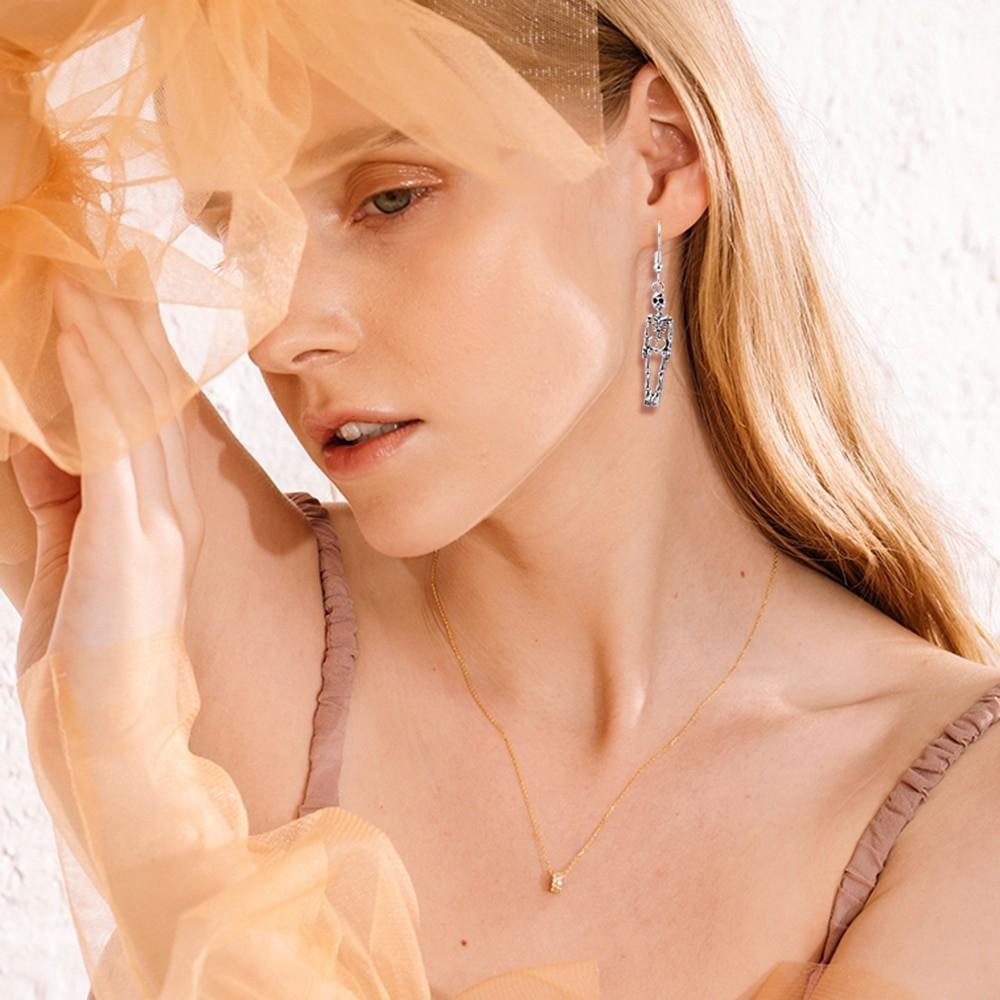 Skeleton Dangle Earrings E-girl Punk Gothic 42