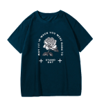 Gothic rose print T-shirt 11
