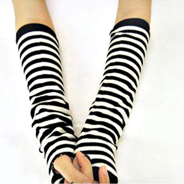 Knitted Long Fingerless Mittens 4