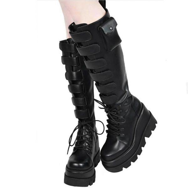 High Heels mid-calf Boots with Platform 2
