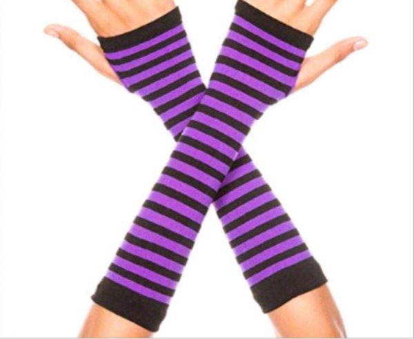 Knitted Long Fingerless Mittens 10