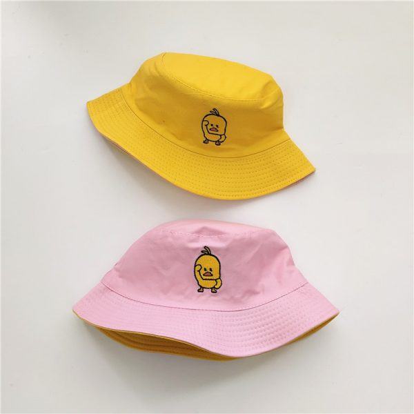 Bucket Hat reversible with cartoon embroidery 4