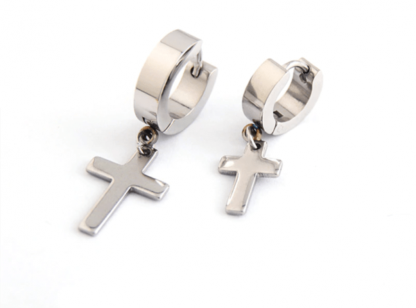 Earrings with Cross pendant 26