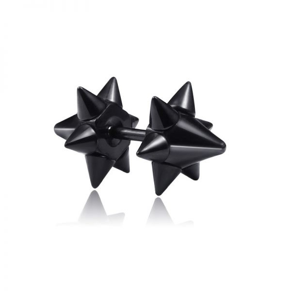 Punk Black Multiple Styles Stainless/Titanium Earrings 64