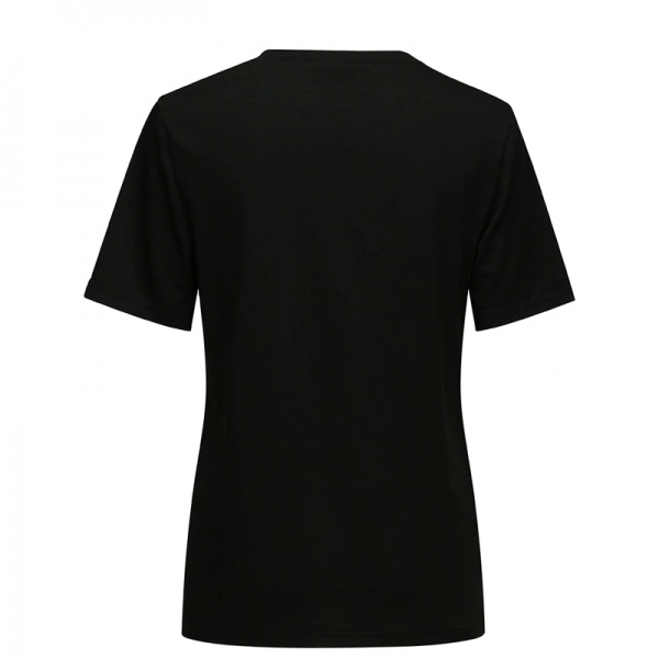 T-Shirt with Gothic Star and Cat Print 6