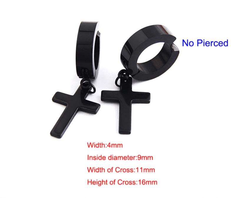 Earrings with Cross pendant 12