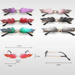 Rimless Flame Sun Glasses 6