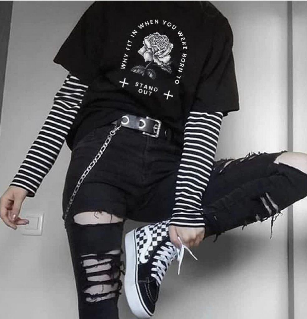 E-girl T-shirt with print