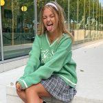 Long Sleeve Sweaters V Neck 32