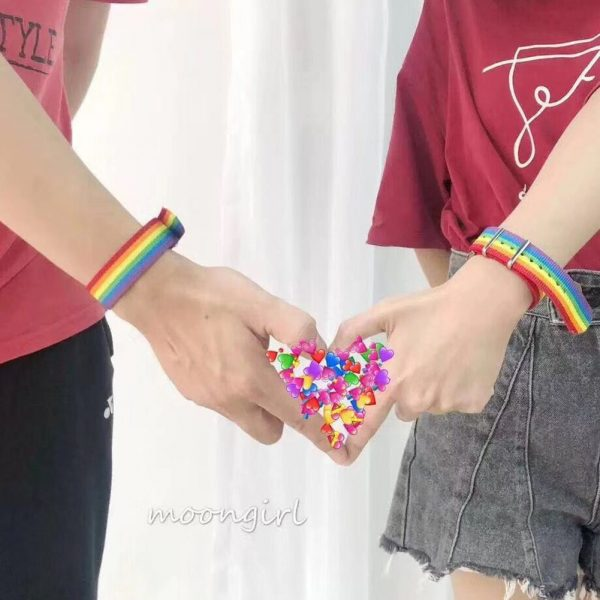 Nylon Rainbow  Bracelet 6