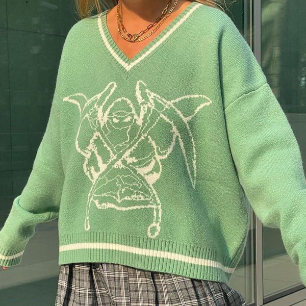 Long Sleeve Sweaters V Neck 26