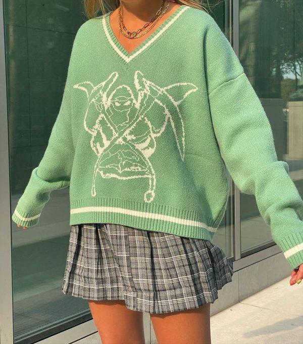 Long Sleeve Sweaters V Neck 33