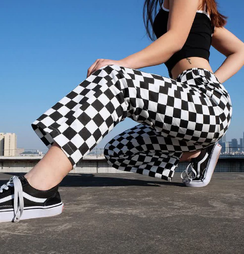 checkered aesthetic pants