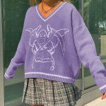 Long Sleeve Sweaters V Neck 35