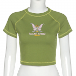 E-girl Crop Top with Butterfly Print 3