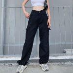 Fashion pocket hight waist Jeans 2