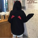 Little Devil Hoodie with horns and wings 8