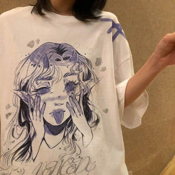 Anime Elf print T-shirt 2