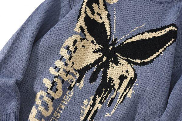 Harajuku Fashion Butterfly Knitwear Sweater 5