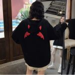 Little Devil Hoodie with horns and wings 2