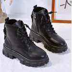 Med Heel Boots with Round Toe 22
