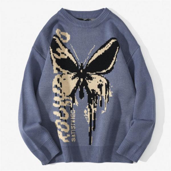 Harajuku Fashion Butterfly Knitwear Sweater