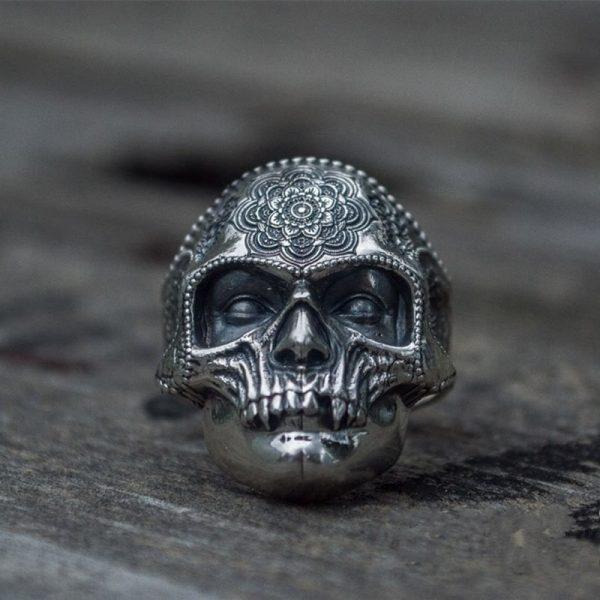 Mens Stainless Steel Skull Ring 4