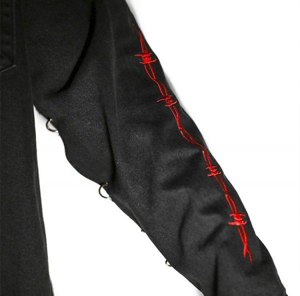 Demon Hunter Skull Black Denim Jacket 4