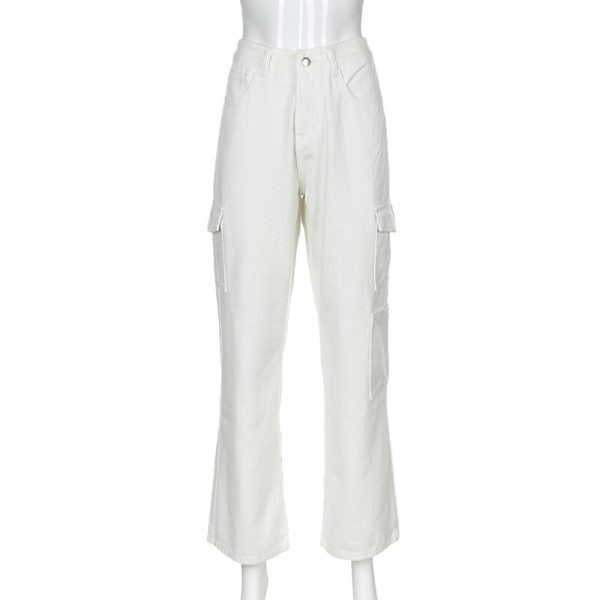 Fashion pocket hight waist Jeans 4