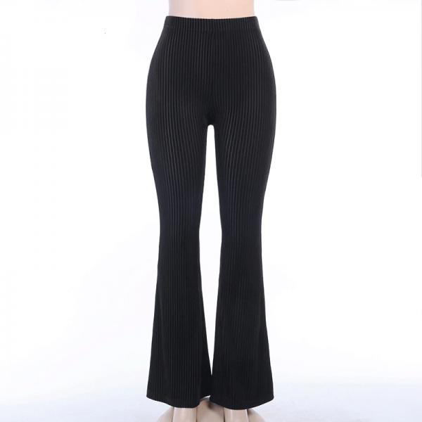 E-girl Goth Aesthetic, Grunge style black pants  5