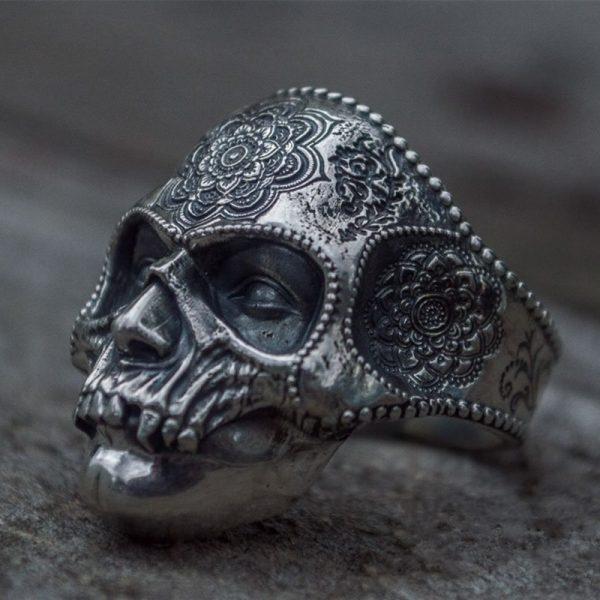 Mens Stainless Steel Skull Ring 3