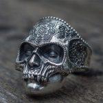 Mens Stainless Steel Skull Ring 2