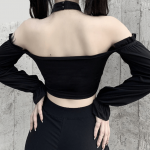 Crop Top With Chains Off Shoulder 16