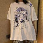 Anime Elf print T-shirt 4