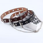 Fashion Belt Double/Single Row Holes and Chain 23