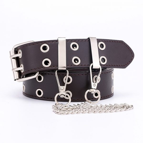 Fashion Belt Double/Single Row Holes and Chain 15