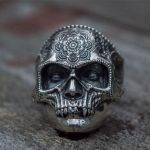 Mens Stainless Steel Skull Ring 1