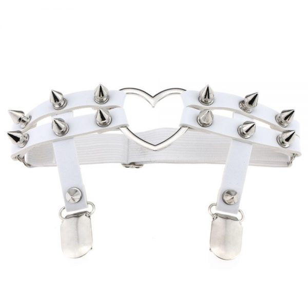 Women Garters with spikes and a heart 5