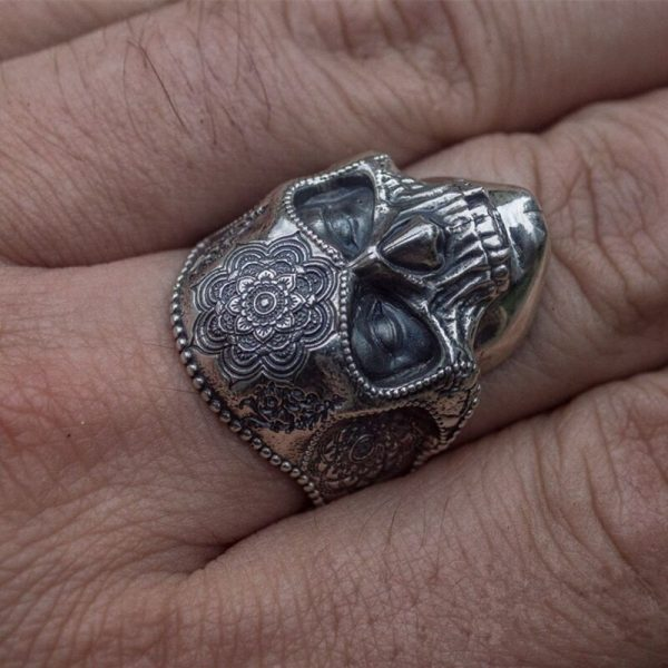 Mens Stainless Steel Skull Ring 6