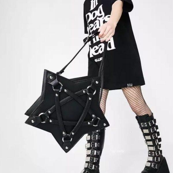 Gothic Pentagram Shoulder Bag 2