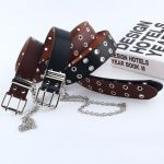 Fashion Belt Double/Single Row Holes and Chain 27