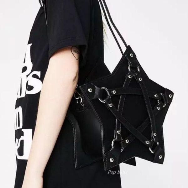 Gothic Pentagram Shoulder Bag 4