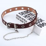 Fashion Belt Double/Single Row Holes and Chain 3