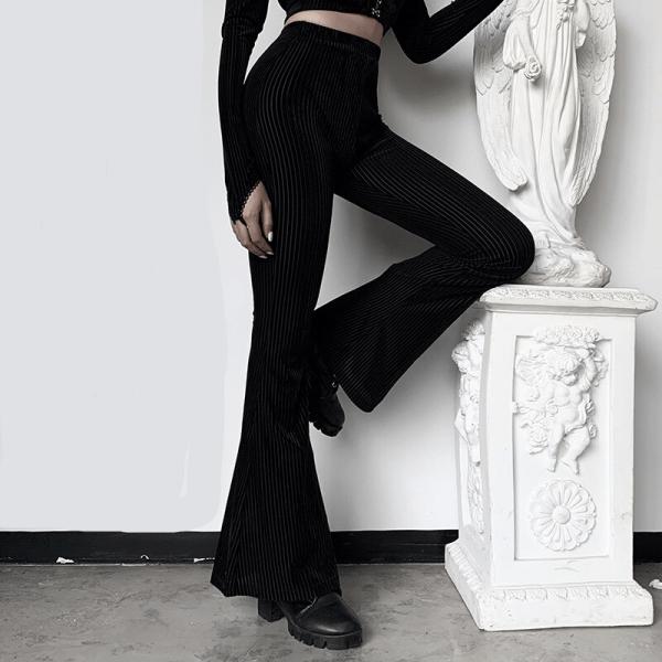 E-girl Goth Aesthetic, Grunge style black pants  2