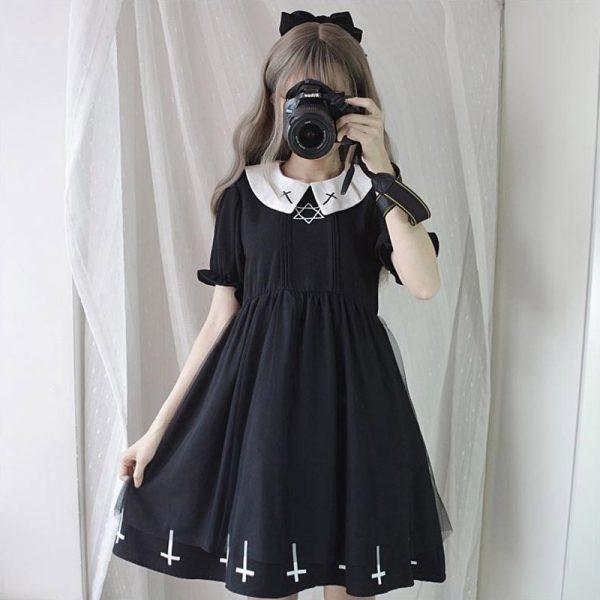 Harajuku Gothic Lolita Dress with Cross 3