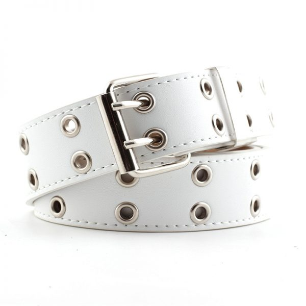 Fashion Belt Double/Single Row Holes and Chain 18