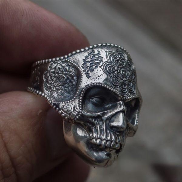 Mens Stainless Steel Skull Ring 5