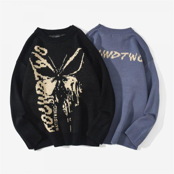 Harajuku Fashion Butterfly Knitwear Sweater 3