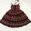 Plaid Japanese Harajuku Dress with leather bandage 8